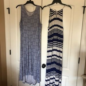 Two maxi and midi spring/ summer dresses. Size XL